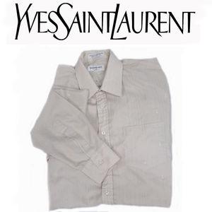 Yves Saint Laurent Beige Button Up Shirt